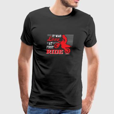 It Was Love At First Ride - Funny Motocross Love - Men's Premium T-Shirt
