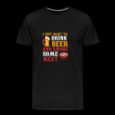 Perfect Gift For Beer And BBQ Lover. - Men's Premium T-Shirt