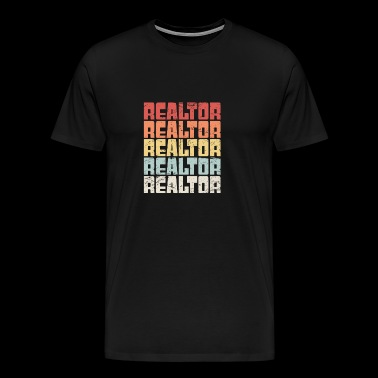 Retro 70s REALTOR Text - Men's Premium T-Shirt