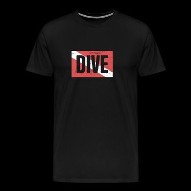Scuba Dive Flag - Men's Premium T-Shirt