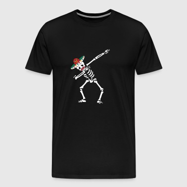 Dabbing Mexican Skeleton With Mustache Cinco - Men's Premium T-Shirt
