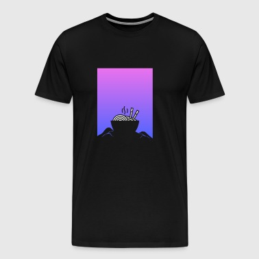 Aesthetic Vaporwave Anime Ramen - Men's Premium T-Shirt