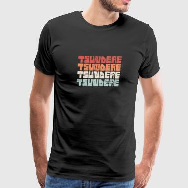 Retro 70s TSUNDERE Anime Text - Men's Premium T-Shirt
