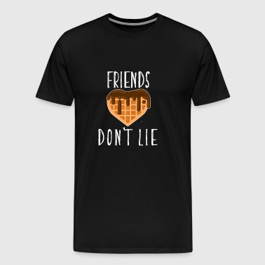 Friends Don't Lie Heart Waffle With Chocolate Cool - Men's Premium T-Shirt