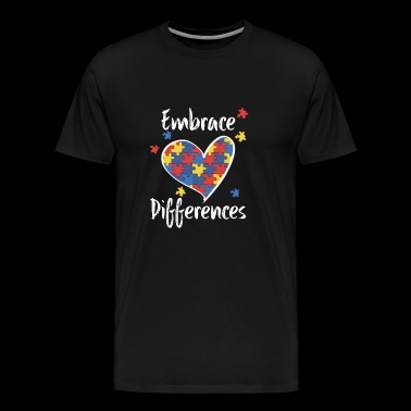 Autism Embrace Differences - Men's Premium T-Shirt