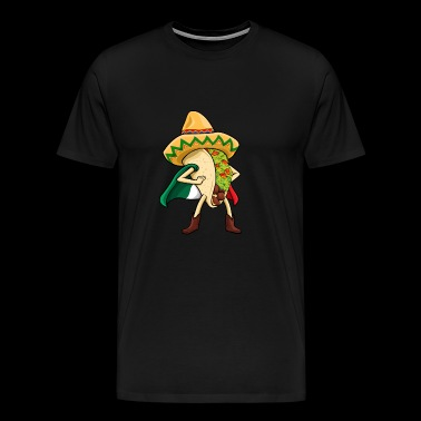 Super Taco Mexican Flag Sombrero - Men's Premium T-Shirt