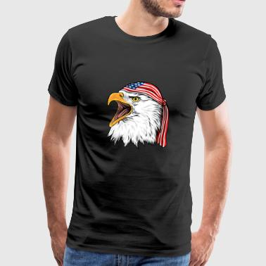 Bald Eagle 4th Of July Independence Day - Men's Premium T-Shirt