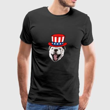 Bulldog 4th of July Independence Day - Men's Premium T-Shirt