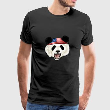 American Flag Panda 4th Of July Independence Day - Men's Premium T-Shirt