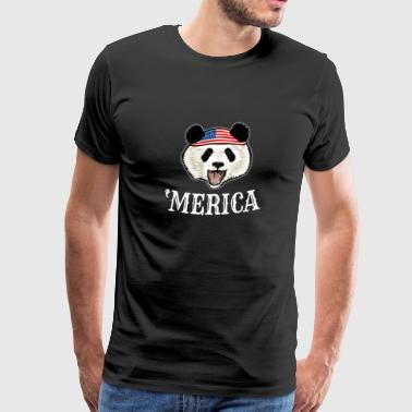 Panda 4th Of July - Men's Premium T-Shirt
