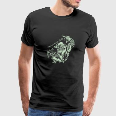 Gloves mask skull - Men's Premium T-Shirt
