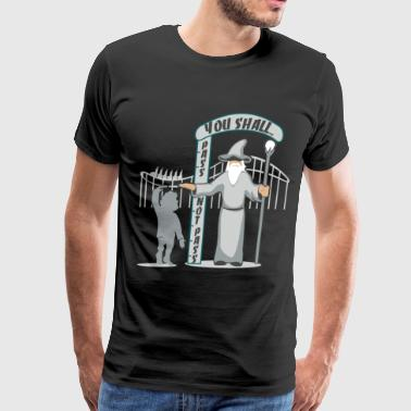 Hobbit at the Roller Coaster - Men's Premium T-Shirt