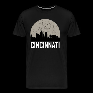 Cincinnati Full Moon Skyline - Men's Premium T-Shirt