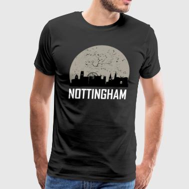 Nottingham Full Moon Skyline - Men's Premium T-Shirt