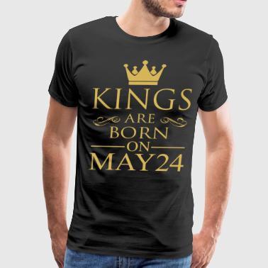 Kings are born on May 24 - Men's Premium T-Shirt
