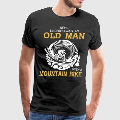 Old Man With A Mountain Bike T Shirt - Men's Premium T-Shirt