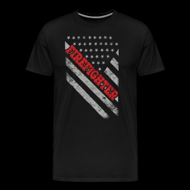 Firefighter Flag - Men's Premium T-Shirt