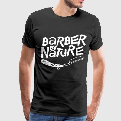 Barber by nature - Men's Premium T-Shirt