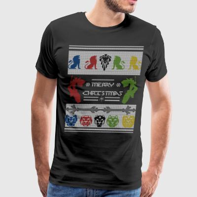 Voltron Ugly Christmas Sweater - Men's Premium T-Shirt
