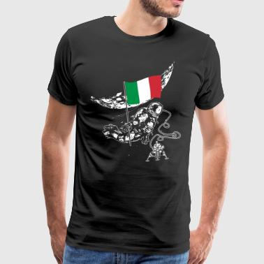 Astronaut moon Italy gift idea flag space - Men's Premium T-Shirt