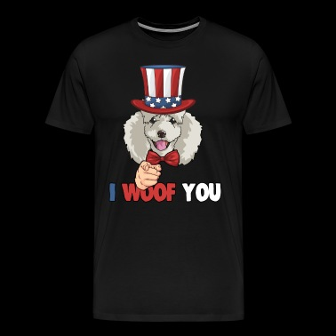 4th of July USA Indepedence day Patriotic Uncle Sam Poodle Dog - Men's Premium T-Shirt
