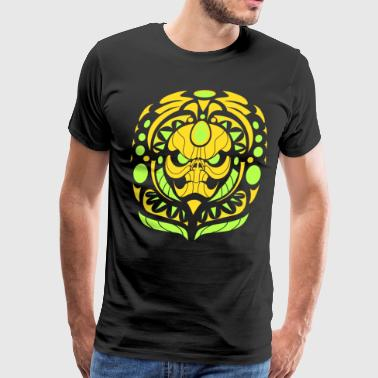 tribal skull yellow - Men's Premium T-Shirt