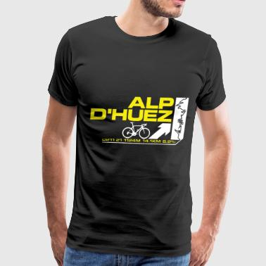 Tour De France Alp D huez Cycling Mens Printed Cyc - Men's Premium T-Shirt