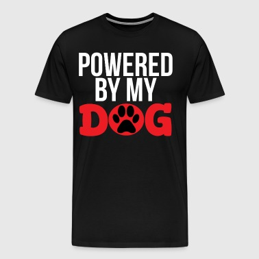Powered By My Dog Funny Dog T-shirt - Men's Premium T-Shirt