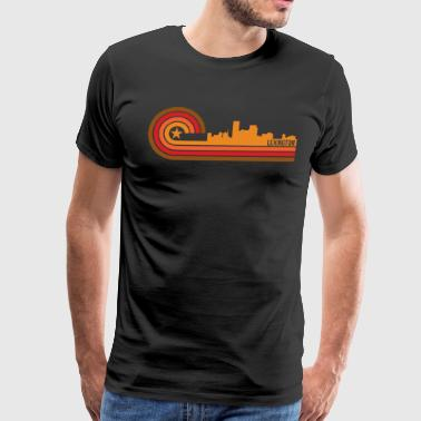 Retro Style Lexington Kentucky Skyline - Men's Premium T-Shirt
