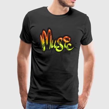 Music Graffiti - Men's Premium T-Shirt