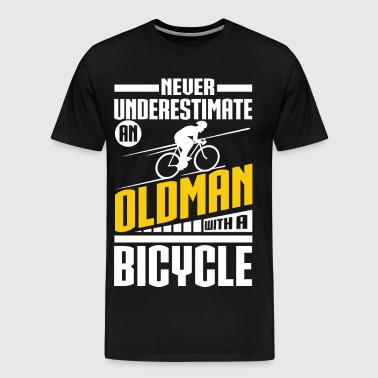 Old Man With Bicycle - Men's Premium T-Shirt