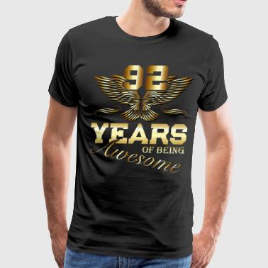 92 Years of being Awesome birthday present - Men's Premium T-Shirt