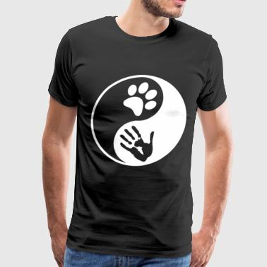 Yin Yang Dog Cat Animal Lover Peta Love Rescue Rig - Men's Premium T-Shirt