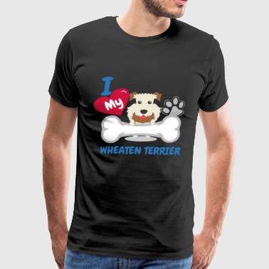 WHEATEN TERRIER Cute Dog Gift Idea Funny Dogs - Men's Premium T-Shirt