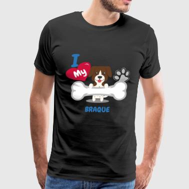 BRAQUE Cute Dog Gift Idea Funny Dogs - Men's Premium T-Shirt