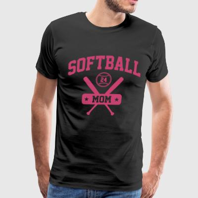 Softball 24 mom - Men's Premium T-Shirt