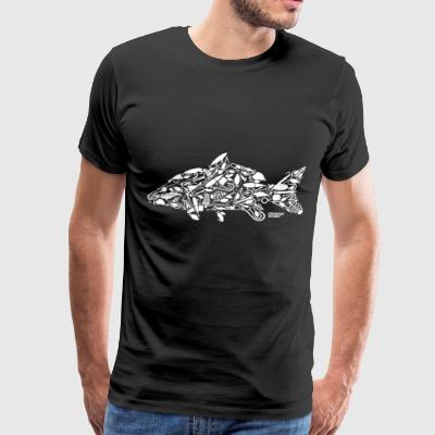 Carp Fishing Fish Worms Boat Angling - Men's Premium T-Shirt