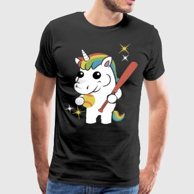 NEW SOFTBALL UNICORN - Men's Premium T-Shirt