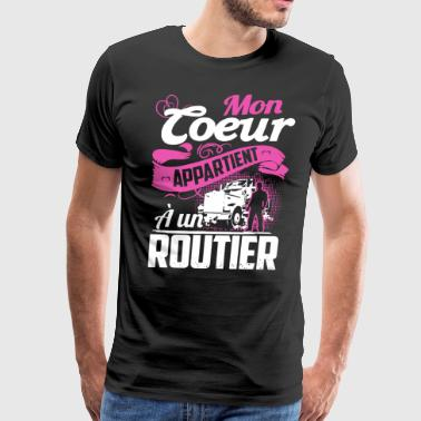 Mom toeur appartient a un routier - Men's Premium T-Shirt