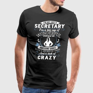 I am not just a secretary I am a big cup of wonder - Men's Premium T-Shirt