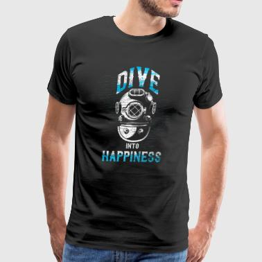 Dive into happiness gift love underwater oxygen - Men's Premium T-Shirt