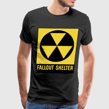 Fall out Shelter Nuclear Emergency Disaster Sign - Men's Premium T-Shirt