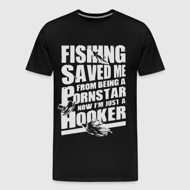 fishing saved me - Men's Premium T-Shirt