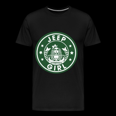 jeep girl car - Men's Premium T-Shirt
