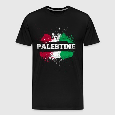 Palestine Flag Nation Gaza Middle East Jerusalem - Men's Premium T-Shirt