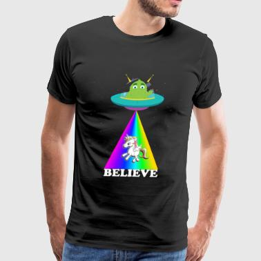 Alien Unicorn - Men's Premium T-Shirt