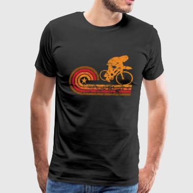 Retro Style Cyclist Vintage Cycling - Men's Premium T-Shirt
