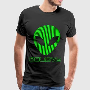 Alien Believe Funny Science T Shirts - Men's Premium T-Shirt
