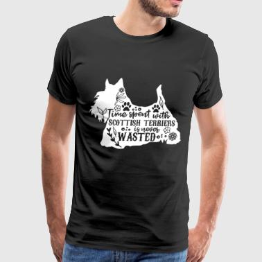 Time Spent With Scottish Terriers Is Never Wasted - Men's Premium T-Shirt