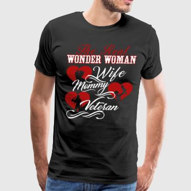 Veteran Shirt - Wonder Woman Mommy Veteran Shirts - Men's Premium T-Shirt